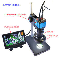 14MP HDMI USB Digital Industry Video Microscope Camera Eyepiece C mount Adapter