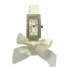 Accessorize Ladies' White Strap Watch with Decorative Bow S1095