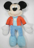 """Christmas Mickey Mouse 21"""" plush stuffed toy doll red jacket blue pants holiday"""