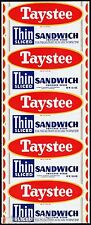 Vintage bread wrapper TAYSTEE THIN SANDWICH Purity Bakeries Nashville Tennessee