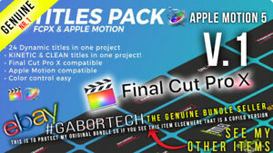 Final Cut Pro X - V1 Titles Pack for FCPX or Apple Motion