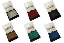 Lot de 6 fards à paupières pailletté argenté rouge noir doré vert & bleu