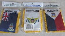4 x 6 Mini Banner - St. Maarten - Virgin Islands - Cayman Islands - Window 3 Lot