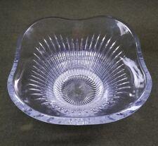 Heavy Contemporary 24% Lead Crystal Wavy Fruit Bowl Table Centerpiece Slovenia