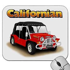 MINI MOKE  CALIFORNIAN   MOUSE PAD  MOUSE MAT    ( 6 CAR COLOURS )