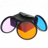 RISE(UK)52mm FLD Filter+Blue+Orange SET For Nikon D3200 D5100 D7100 D7000 D5000
