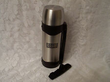 Stainless Thermos with Handle and Strap with Bumper to Bumper Auto Parts Logo