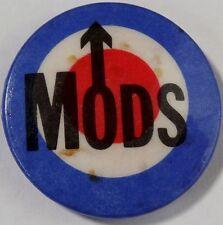 """MODS Mod Target Old OG Vtg 1980`s Button Pin Badge (Scooter Vespa) 32mm-1.25"""""""