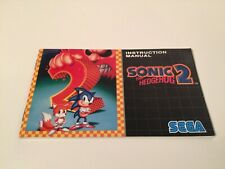 Sonic the Hedgehog 2 - Sega Genesis - Instruction Manual ONLY