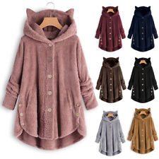 Women Winter Warm Hooded Fleece Jacket Coat Outwear Overcoat Parka Plus Size