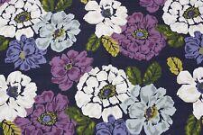 Robert Allen Home 3 yards Bold Floral Fabric Blue Purple 2012