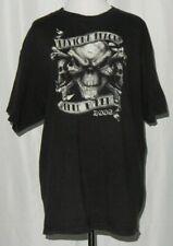 Delta Men's Daytona Beach Bike Week 2008 T-Shirt Black Size XL Skulls Galore
