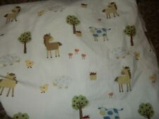 Vintage Kidsline Country Side Farm Animals Cotton Fitted Crib/Toddler Bed Sheet