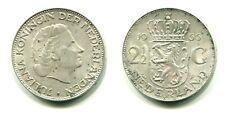 2 1/2 Gulden Niederlande 1966 Silber