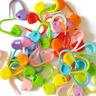 100PCS Amazing Knitting Crochet Locking Stitch Needle Clip Markers Holder Tools