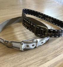"Transit Leather Belt Bindle White Brown Moc Croc Buckle 30"" 32"" 34"""