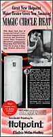 1949 Hotpoint electric water heater man shaving vintage photo Print Ad adL40