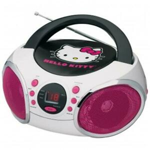 Hello Kitty KT2026MBY Portable Stereo CD Boombox with AM & FM Radio Speaker