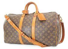Authentic LOUIS VUITTON Keepall Bandouliere 45 Monogram Canvas Duffel Bag #37056