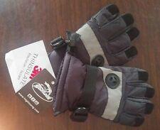 Kid 3M Thinsulate Snow Gloves Waterproof Warm Ski Gloves NEW Black 4/5