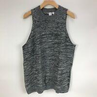 Gap Women's Textured Mock Tank Top Charcoal Grey XXL NWT