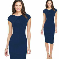 Elegant Womens Office Formal Sleeveless Party Sheath Tunic Pencil Mini Dress