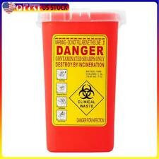 Sharps Container Bin Tattoo Medical Biohazard Piercing Needle Collect Box Ns7