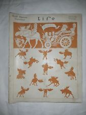 Life Oct 24, 1912 Bull Moose Number Charles Dana Gibson Harrison Cady Schlitz