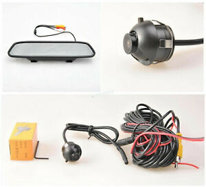"""4.3"""" Monitor&Reversing Camera Front/Side/Rear View 360 Rotatable For Honda Civic"""