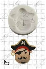 Silicone mould Pirate Face (1) | Food Use FPC Sugarcraft FREE UK shipping!