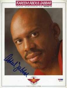 Kareem Abdul Jabbar Psa Dna Coa Autograph 8x11 Photo  Hand Signed Authentic
