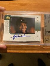 2001 Upper Deck Player's Ink Tiger Woods RC BGS 9, AUTO 10. CENTERING 10 🔥🐅🔥