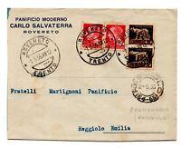 1936 REGNO BUSTA CON ANNULLO FRAZIONARIO REGGIOLO EMILIA
