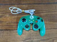 Nintendo Wii U Luigi Wired Fight Pad Classic Controller Smash Bros