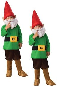 Boys Garden Gnome Costume Fairytale World Book Day Fancy Dress Outfit New