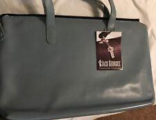 Jack Georges Saffiano Denim Leather Tote Bag NWT --Modern Briefcase