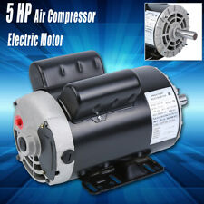 New 5 Hp Air Compressor Duty Electric Motor 3450 Rpm 78 Shaft Single Phase
