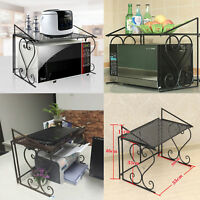 Metal Shelf Microwave Oven Rack Kitchen Organizer Counter Cabinet Storage Sturdy