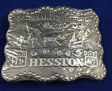 NFR 1987 National Finals Rodeo Hesston Collectible Belt Buckle New
