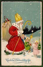 AK, Weihnachtsmann und Engel auf dem Weg zur Bescherung- Feldpost 1939- TOP*