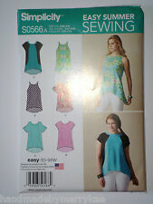 Simplicity Pattern S0566 Misses' Loose Fitting Top Easy Summer Sewing XXS-XXL