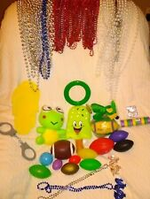 63 Assorted Mardi Gras Beads & 21 Assorted Throws [Mobile, Alabama thrown]