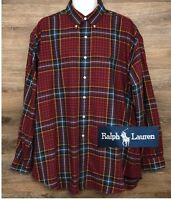Ralph Lauren Men's Multi-Color Plaid Long Sleeve Button Down Blake Shirt XL