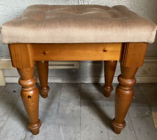 Vintage Pine Solid Chesterfield Stool Table Dressing Farmhouse Chunky Ducal