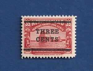Newfoundland stamps #129 3c on 15c scarlet, seals Type ll VFmnh