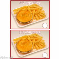 2x  pie & chips  fish shop vinyl sticker catering trailer cafe  bar takeaway