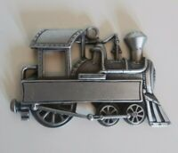 Gloria Duchin Pewter Train Locomotive Vintage Christmas Ornament Collectible