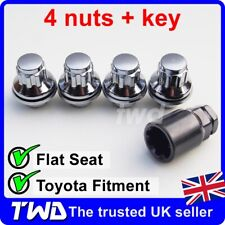 4x ALLOY WHEEL LOCKING NUTS FOR TOYOTA COROLLA M12x1.5 CHROME SECURITY BOLT -0Lb