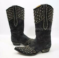 OLD GRINGO L676-1 SZ 8 LEIGH ANNE VESUVIO BLACK STUDDED WESTERN COWBOY BOOT