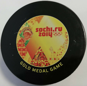 Hockey Puck Sochi 2014 Olympic Winter Game Final Gold Medal Canada - Sweden